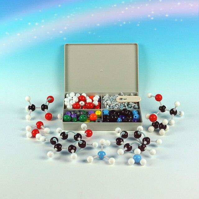 240 Pcs כימיה Atom מולקולריים ערכת סט כללי מדעי ילדים חינוכיים דגם סט