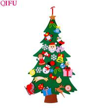QIFU 3D DIY Felt Christmas Tree Christmas Decorations for Home Christmas Tree Decoration Xmas Gifts New Year Navidad Noel