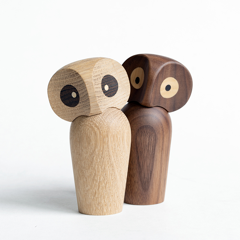Nordic Wood Owl Doll Creative Home Decoration Wood Gift