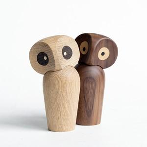 Wood Owl ornament Gift Creative Home Decoration accessories decor figurine modern miniature figurines decoracao para casa maison(China)