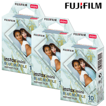 Nowy Fujifilm Instax Mini Film Instax Mini 9 niebieski marmur projekt rama dla Fuji Mini 11 8 7s 25 aparat natychmiastowy SP-1 SP-2 Mini Link tanie tanio Instax Mini 9 Color Film JP (pochodzenie) Blue Marble 1 2 3 Pack (10 sheets per Pack) Instax Mini 7s 8 9 11 25 50s 90 70 Hello Kitty Camera