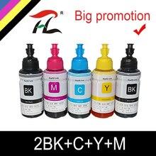 HTL 5PK 70ml atrament barwnikowy wkład tuszu kompatybilny dla epson L200 L210 L222 L100 L110 L120 L132 L550 L555 L300 L355 L362 tusz do drukarki