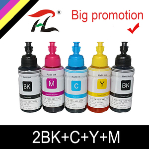 Image 1 - HTL 5PK 70ml atrament barwnikowy wkład tuszu kompatybilny dla epson L200 L210 L222 L100 L110 L120 L132 L550 L555 L300 L355 L362 tusz do drukarki
