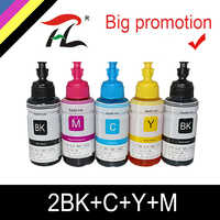 HTL 5PK 70ml dye ink refill ink compatible for epson L200 L210 L222 L100 L110 L120 L132 L550 L555 L300 L355 L362 printer ink