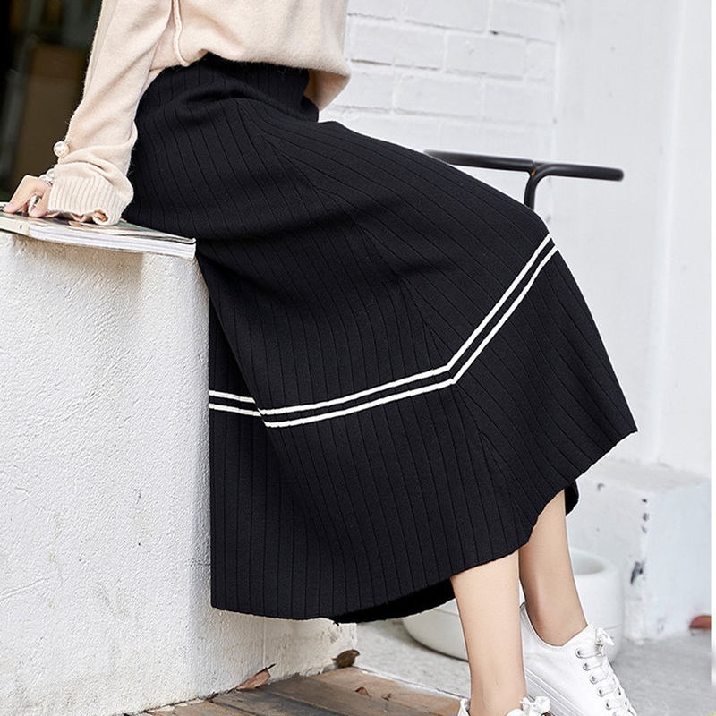 2020 Time-limited Empire Skirt Saia Winter Of Tall Waist Knitted Skirts In The New Long Joker Their Children With A Sweater