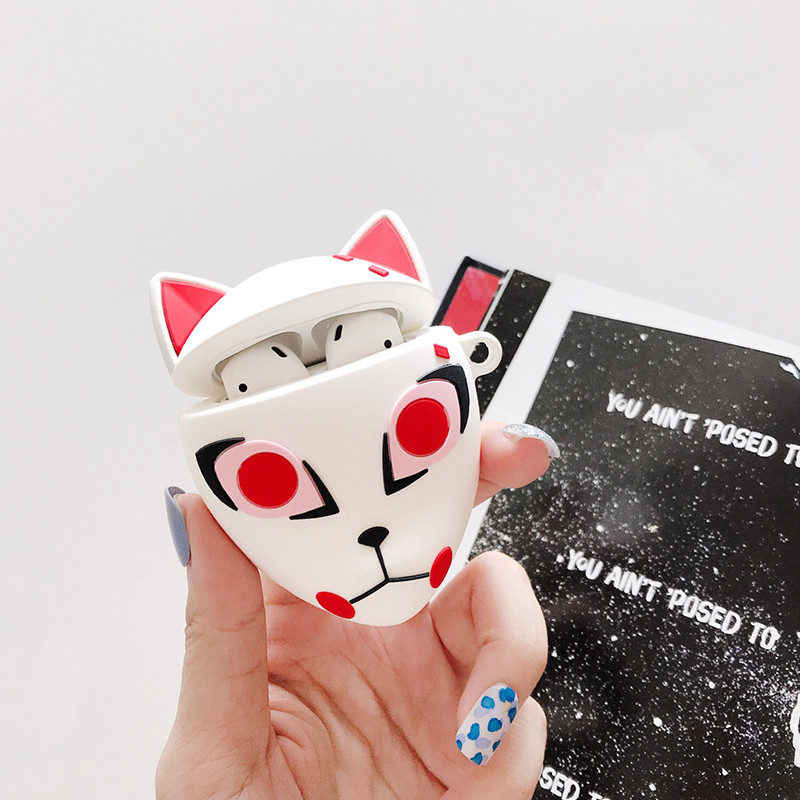 Cartoon Anime Mask Case For Apple Airpods 2/1 Cover Funny Silicone Headphone Case Box For Airpod Earphone Fashion Soft Funda