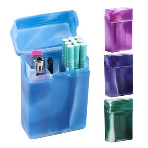 Random Color Cigarette Case with Compartments Portable Plastic Cigarette Case Storage Box Container Holder Smoking Accessories