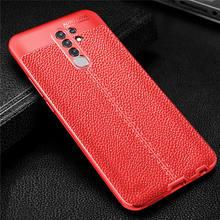 Wolfsay Soft TPU Case For Xiaomi Redmi 9 Case Leather Texture Silicone Phone Cover For Xiaomi Redmi 9 Coque for Xiaomi Redmi 9