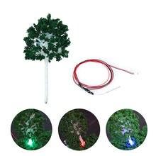 Модельное освещение diorama модель дерева со светлым цветным