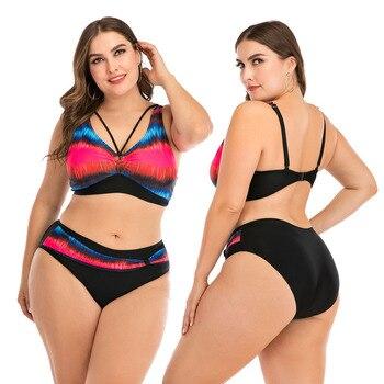 Push Up Bikini Sets Swimwear Women Swimsuit 2020 Plus Larges Size Bathing Swimming  Suits Beachwear For Famale Sexy Biquini Wear 12