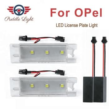 2pcs Car-Styling LED License Plate Lights for Vauxhall Opel Astra H J Corsa C D Insignia Tigra B Twintop Vectra C Zafira B OPC фото