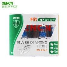 XENON H7 12 В 55 Вт серебряный алмазный сменный автомобильный светильник, источник света, галогенный ксеноновый головной светильник до 120% больше, светильник 50 м луч, 2X светильник