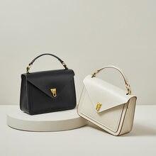 Trendy Retro British European and American Style Postman Soft Genuine Leather Internet Celebrity Large Capacity Handbag