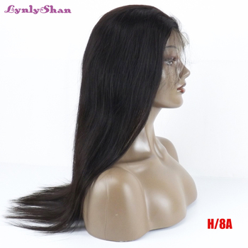 Lynlyshan Wigs for Women Brazilian Lace Front Human Straight Hair Wigs 180% Density Natural Color Remy Hair 13*6 Lace Front Wigs