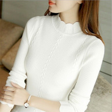 Women Sweater Turtleneck Pullover Autumn Winter Wool Thermal Sweaters Womens Clothes Knitted