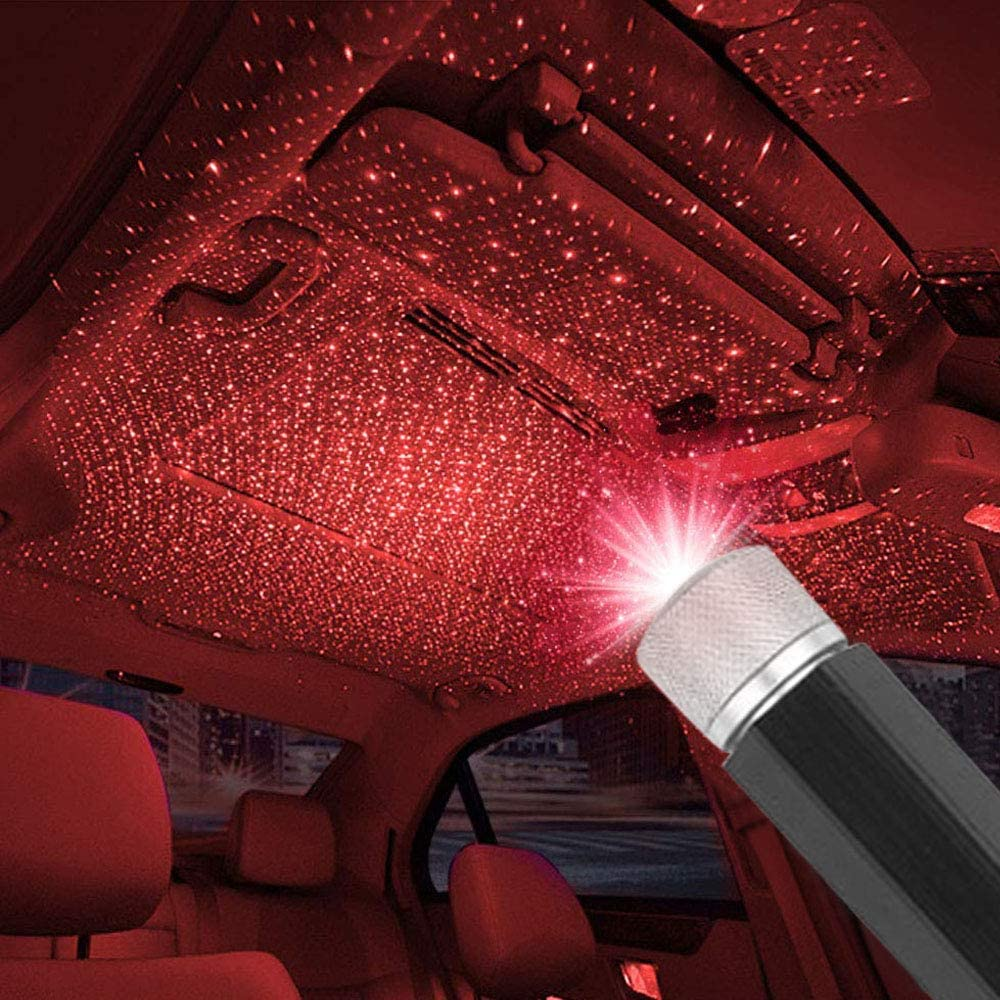 Car Roof Star Light Interior LED Starry Laser Atmosphere Ambient Projector USB Decoration Night Home Decor Galaxy Lights
