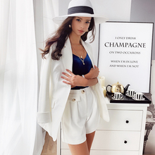 Dabuwawa Chic Korean Style Blazer And Shorts Women Elegant Set Office Ladies Buttoned Jacket Suit Sets Two Pieces DT1ASA008