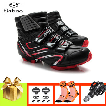 Tiebao sapatilha ciclismo mtb cycling shoes winter mountain bike shoes for men women SPD pedals professional cycling sneakers