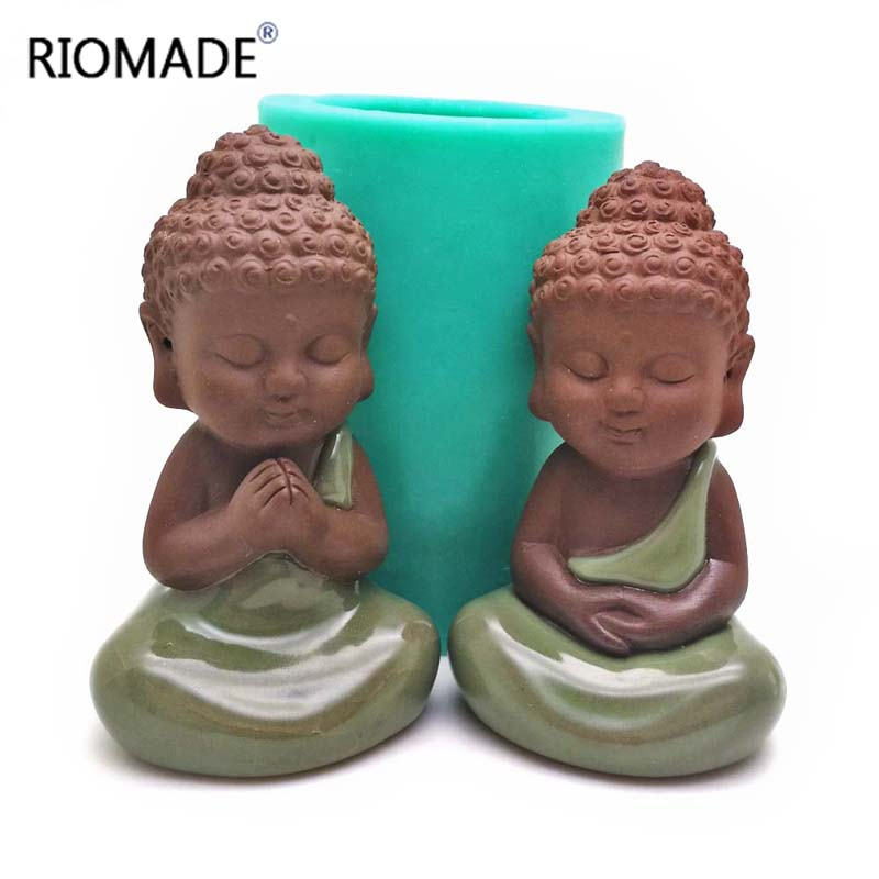 3D Buddha Statu Silicone Mold Candle Molds  Handmade Statue Porcelain Mould Baking Decorative Tools
