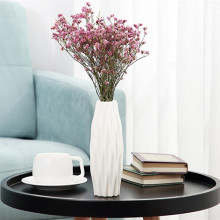 Креативная пластиковая ваза белая имитация керамического цветочного горшка Красивая Цветочная ваза украшение дома 3 цвета