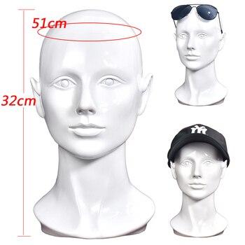 Female PVC Mannequin Manikin Head Model Wig Hair Glasses Display Stand
