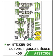 Yeni 2021 Yeşil Monster 46 motosiklet etiket seti yüksek kaliteli folyo A4 STİCKER 009 TEK PAKET ÇOKLU STİCKER-950x950 Türkiye
