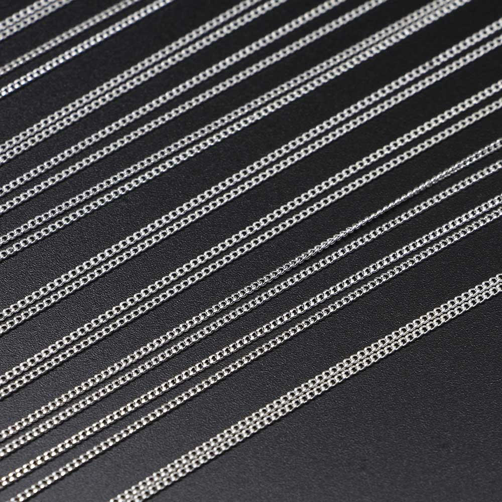 12Pcs Pack 45cm Gold Silver Fine Necklace Chains pack With Lobster Clasp Choker Accessories For Jewelry Making DIY Handmade in Jewelry Findings Components from Jewelry Accessories