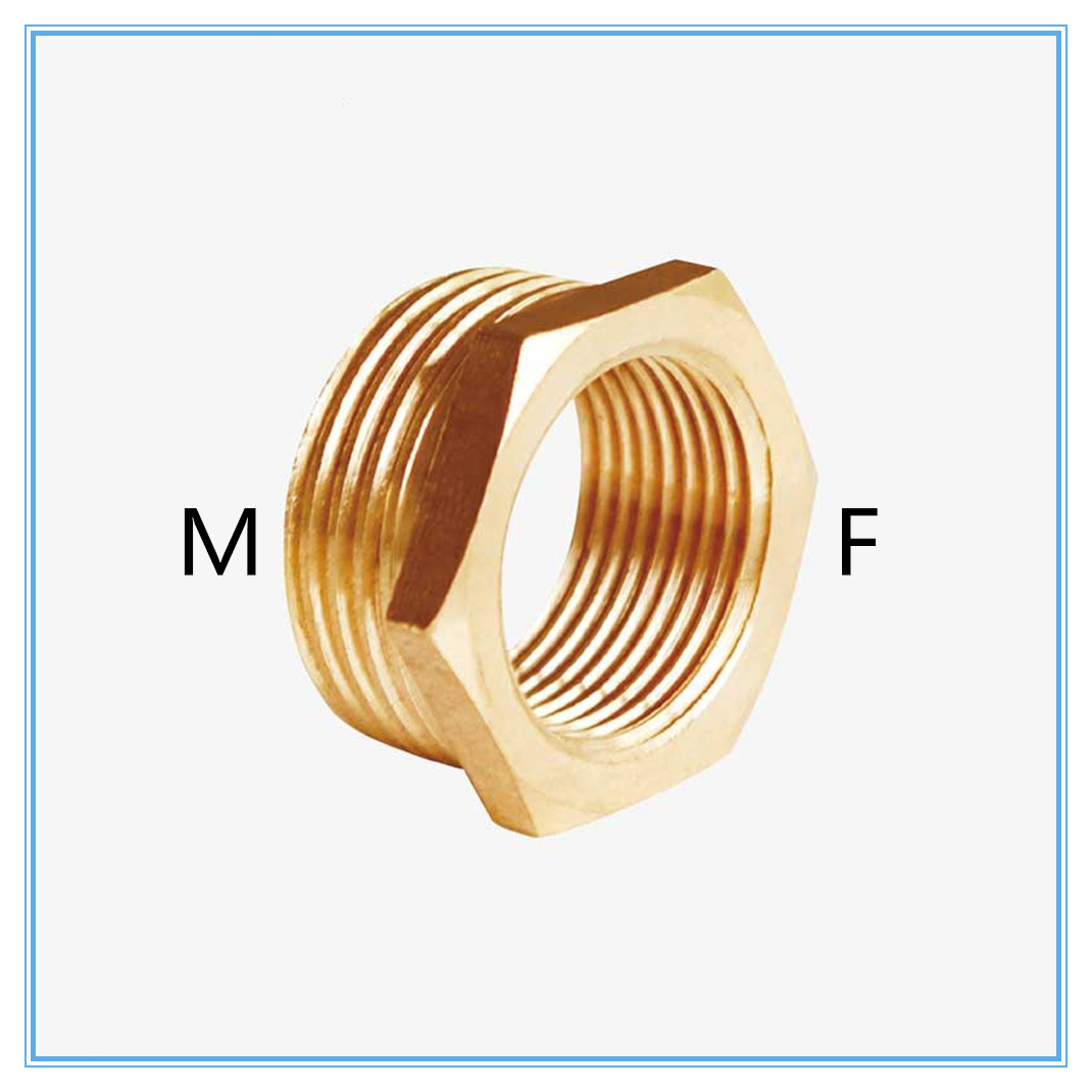 Brass Reducer  Male Thread To Female Thread Reducing Bush Adapter Fitting Gas Air Water Fuel  Copper