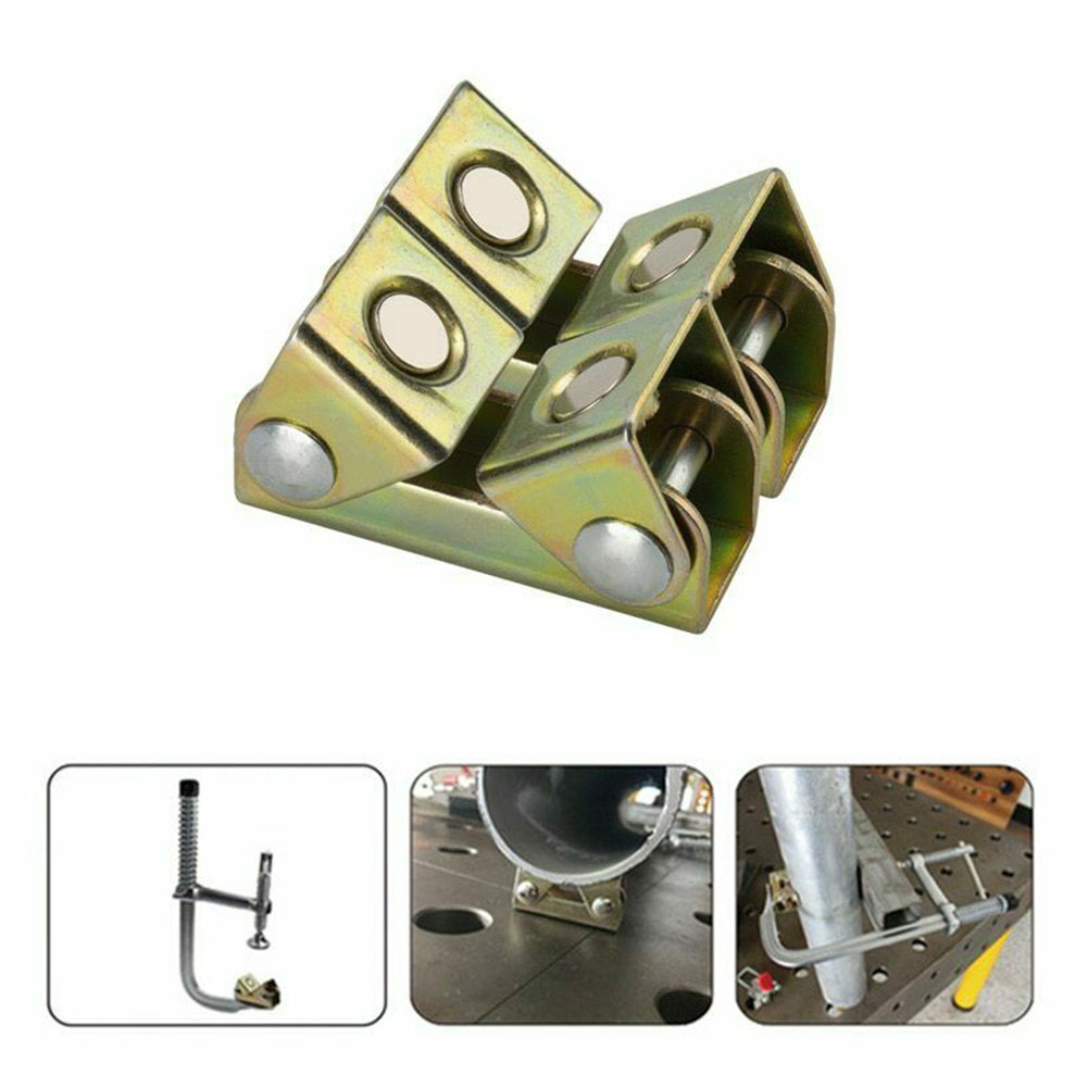 V Type Hand Tool Professional Welding Fixture Magnetic Sturdy Door Window Practical Adjustable Stainless Steel Suspender Clamp