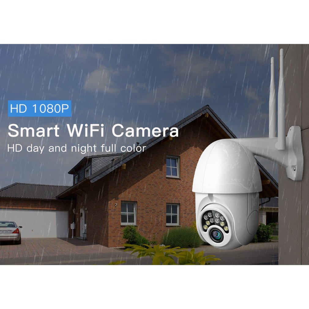 V380 caméra de Surveillance sans fil Machine à balles sans fil extérieur étanche Wifi alarme 360 degrés caméra de Surveillance