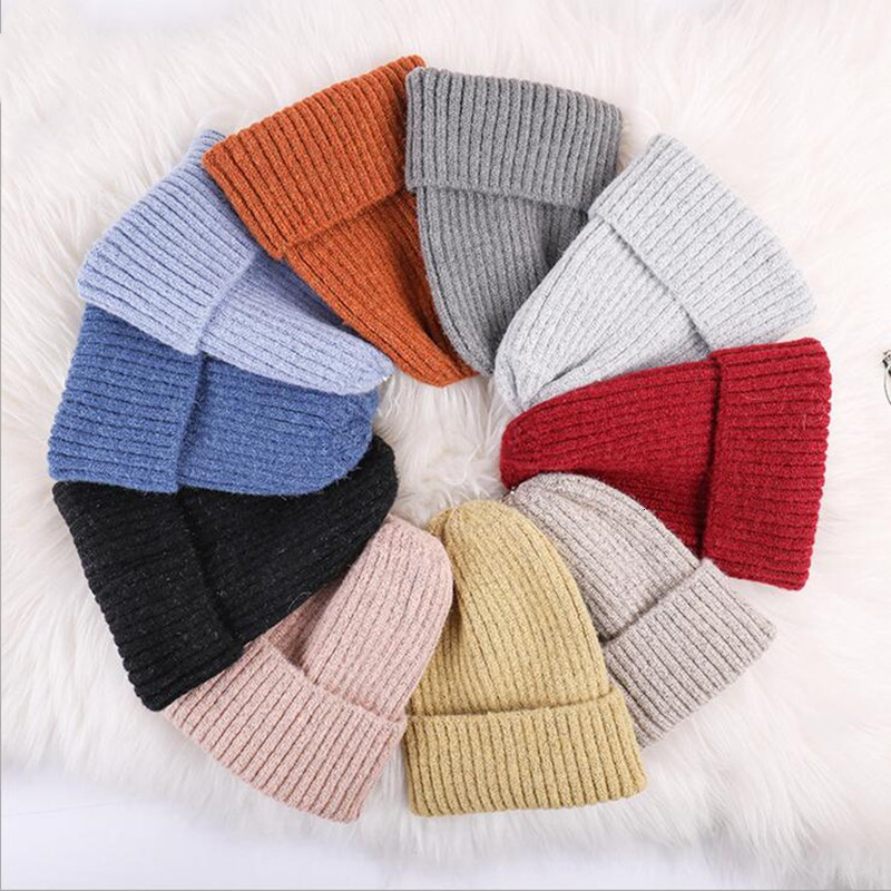 Winter Cashmere Hat For Women Beanie Hip Hop Cute Winter Beanie Hat Knitted Warm Caps Unisex Skullies Beanie Warm Hat