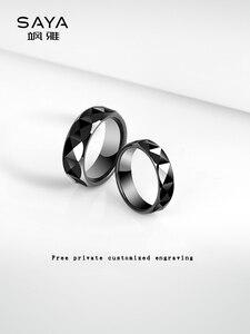 Image 2 - แหวนผู้ชาย,สีดำเซรามิคโดมวงแหวนสำหรับงานแต่งงานงานหมั้นกว้าง 7 มม.,จัดส่งฟรี,ที่กำหนดเอง