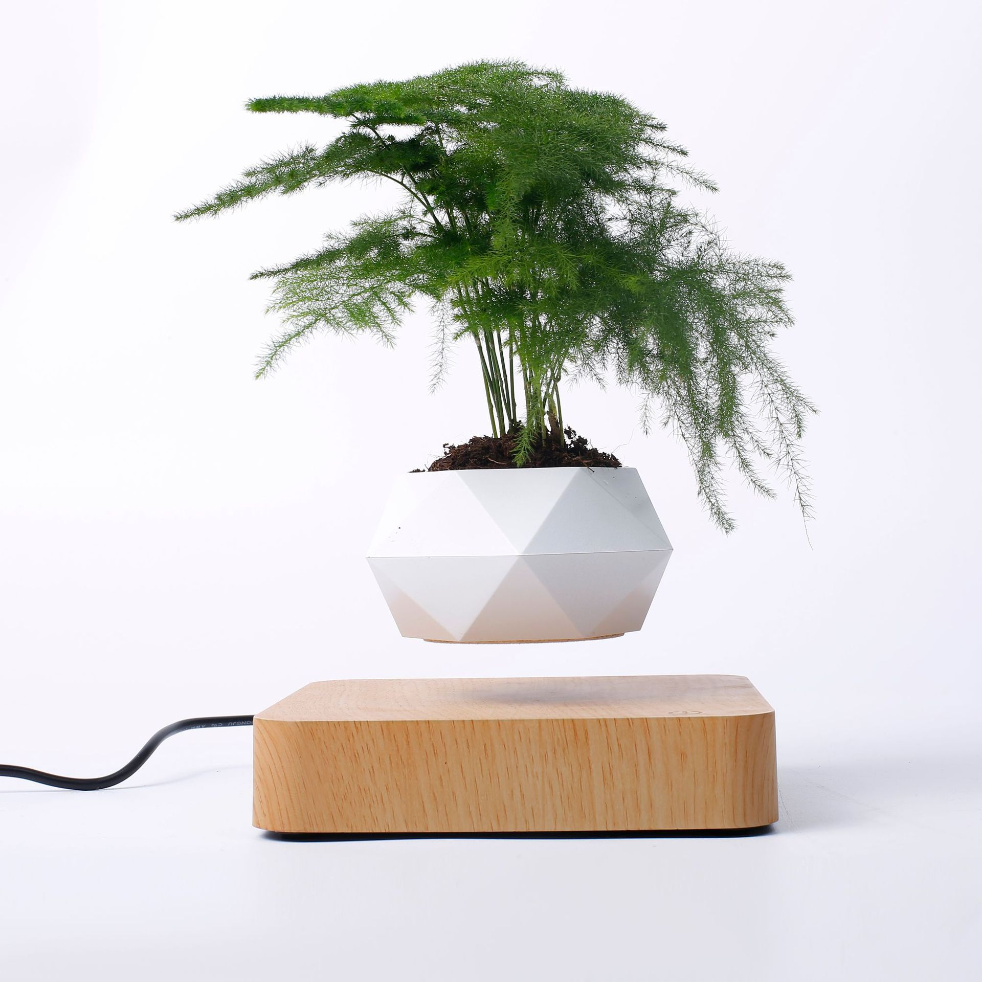 Flower-Pot Planters Bonsai Potted-Levitation Indoor-Decoration Magnetic Home title=