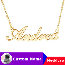 Gold Silver Chain Choker Custom Name Necklace Women Men Personalized Necklaces Pendents Collares Mujer Jewelry Christmas Gifts personalized multiple name necklace women men collares mujer family necklaces pendents custom jewelry gold chain choker kolye