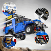 MOC TOYOTA FJ40 SUV APP RC Blue Motor Power Mobile Remote Control Building Blocks Vehicle Car Model Set Kids Boys Toy Gift