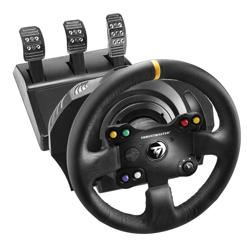 Make for Brand new stock toumsthrustmaster TX TMX leather Xbox one PC steering wheel
