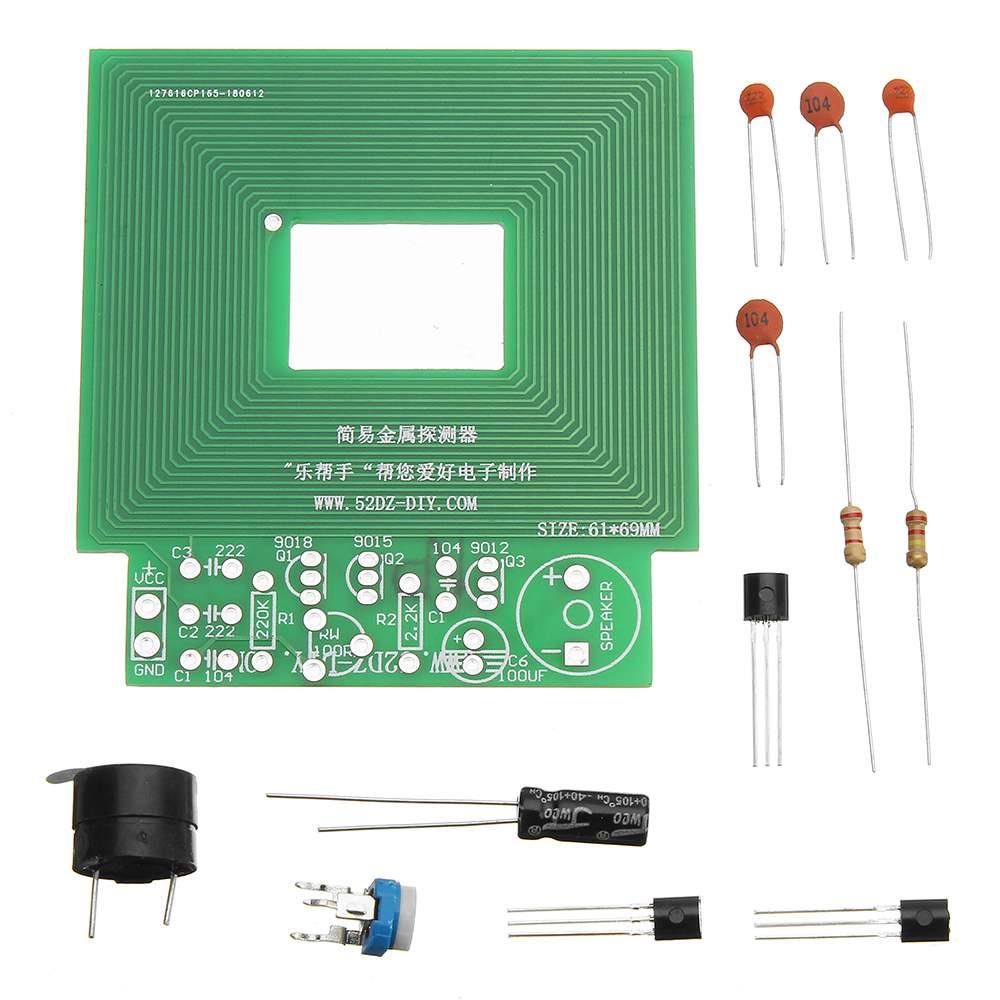 DIY Simple Metal Detector Metal Locator DC 3V-5V Electronic Metal Sensor Module Kit