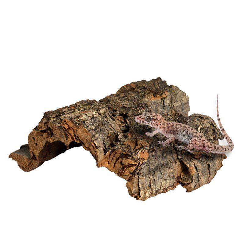 Tree Bark Reptile Climbing Cork Bark Natural Wood Habitat Lizard Spider Pet Hiding Place T8WE