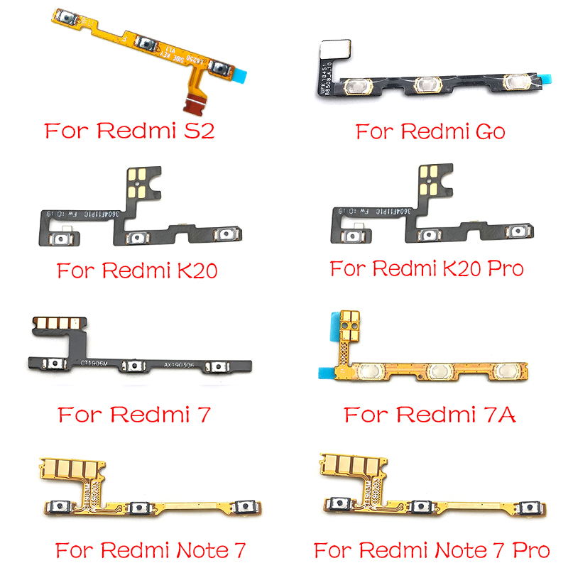 Power Volume Button Flex Ribbon Cable For Xiaomi Mi A3 9T 9 Lite Redmi Go 8 7 7A S2 Note 7 K20 Pro Note 8 Pro Repair Parts