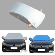 Half Car Cover Top Windshield Cover Sun Shade Protector Snow Dust Frost Guard