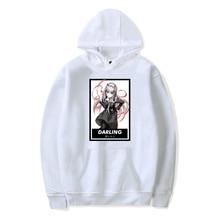 Darling In The Franxx Cute Japanese Anime Women Hoodie Sweatshirt Casual Couple Streetwear Fashion Pullover Men Clothing Hoodies