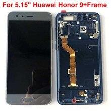 Orijinal AAA test en iyi 5.15 Huawei honor 9 honor 9 STF L09 STF AL10 STF AL0 LCD ekran ekran + dokunmatik digitizer ile çerçeve