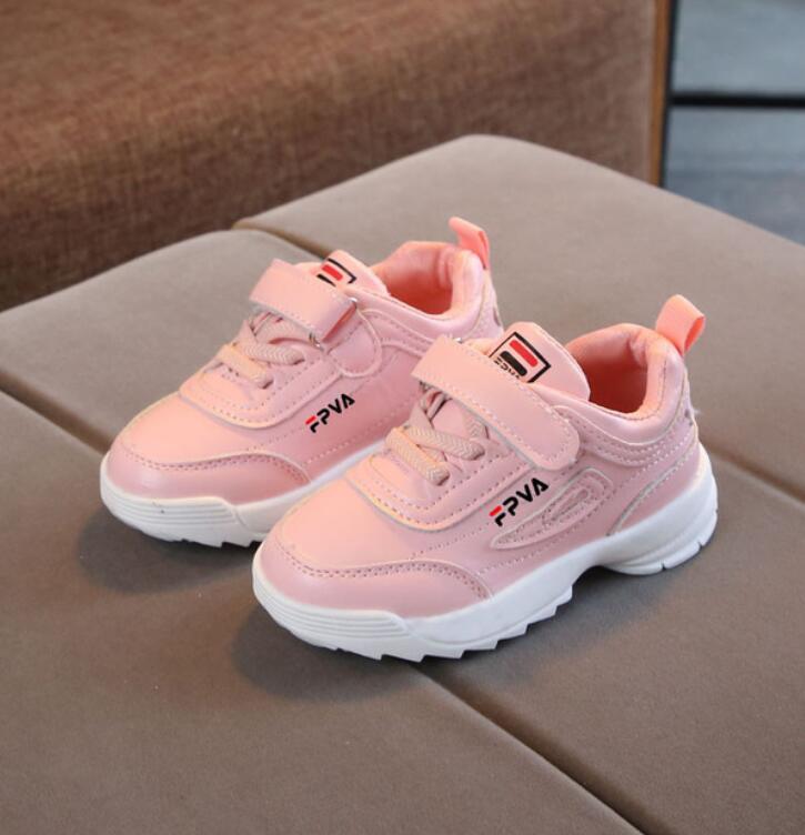 Детские кроссовки для девочек и мальчиков, Повседневная модная кожаная обувь для начинающих ходить детей