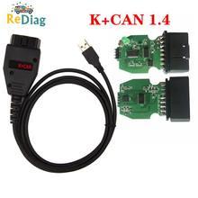 Cabo diagnóstico do carro obd2 para vag k + pode comandante 1.4 com ftdi ft232rq pic18f258 obdii scanner para vw/audi/skoda/vag comandante
