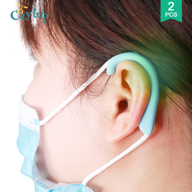 1Pair Face Mask Band Cover Comfortable Silicone Ear Protector Relieve Ear Pain Mask Strap Hook For Adults And Kids