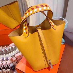 Женская Ручная парусиновая большая пляжная сумка на плечо, женские сумки-мессенджеры, женские сумки, известный бренд, Sac A основной Femme De Marque ...