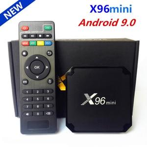 Image 1 - 원래 X96 미니 안드로이드 9.0 스마트 TV 박스 Amlogic S905W 쿼드 코어 2 기가 바이트 16 기가 바이트 2.4G 와이파이 미디어 플레이어 X96 미니 셋톱 박스 1 기가 바이트 16 기가 바이트