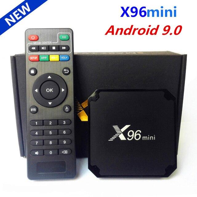 원래 X96 미니 안드로이드 9.0 스마트 TV 박스 Amlogic S905W 쿼드 코어 2 기가 바이트 16 기가 바이트 2.4G 와이파이 미디어 플레이어 X96 미니 셋톱 박스 1 기가 바이트 16 기가 바이트