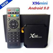 الأصلي X96 mini أندرويد 9.0 مربع التلفزيون الذكية Amlogic S905W رباعية النواة 2GB 16GB 2.4G واي فاي مشغل الوسائط X96mini مجموعة صندوق فوقي 1GB 16GB