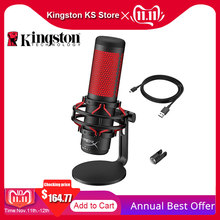 Kingston HyperX QuadCast USB Condenser Gaming Microphone Professional Computer Microfone for PC PS4 Mac Podcasts Twitch YouTube